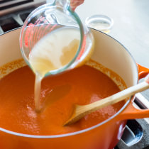 Creamless Creamy Tomato Soup America S Test Kitchen