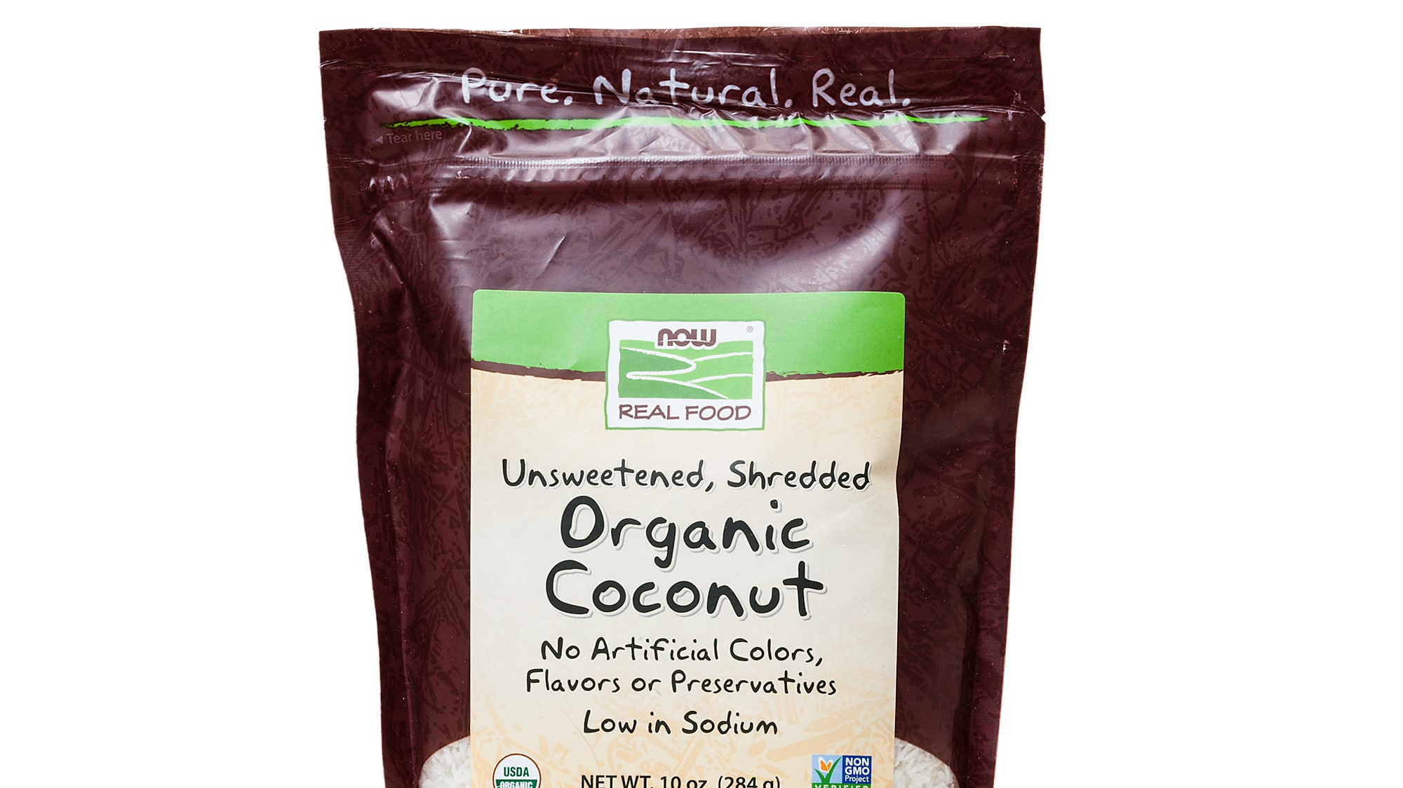24273 sil shredded coconut now real food organic unsweetened coconut shredded 1