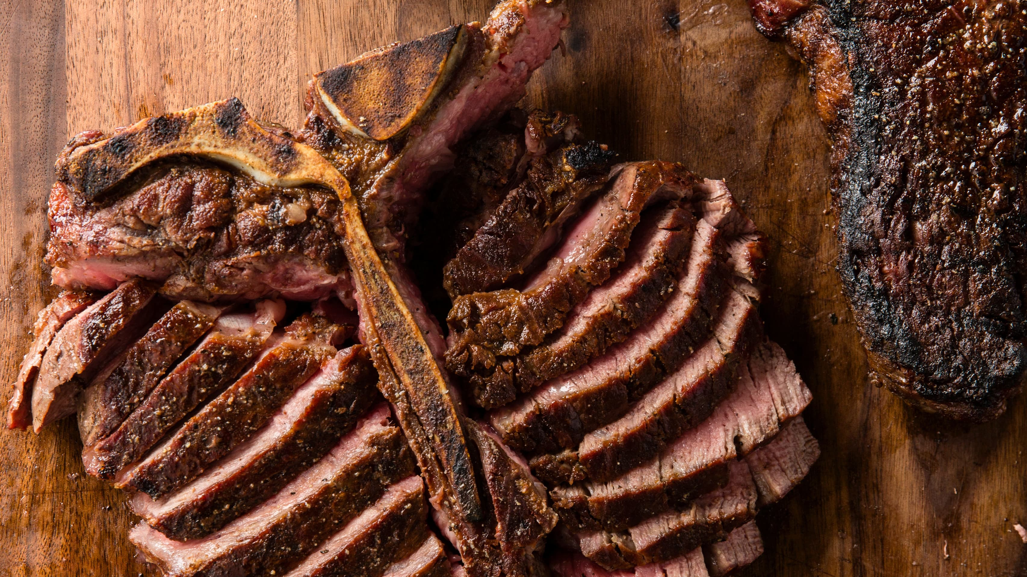 Grilled Thick Cut Porterhouse Steaks Cook S Country