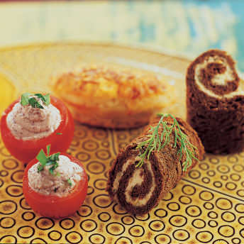 Smoked salmon pinwheels cooks country ingredients ccuart Image collections