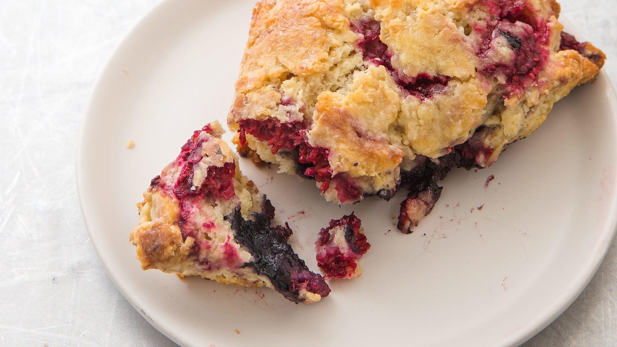 Mixed Berry Scones America S Test Kitchen