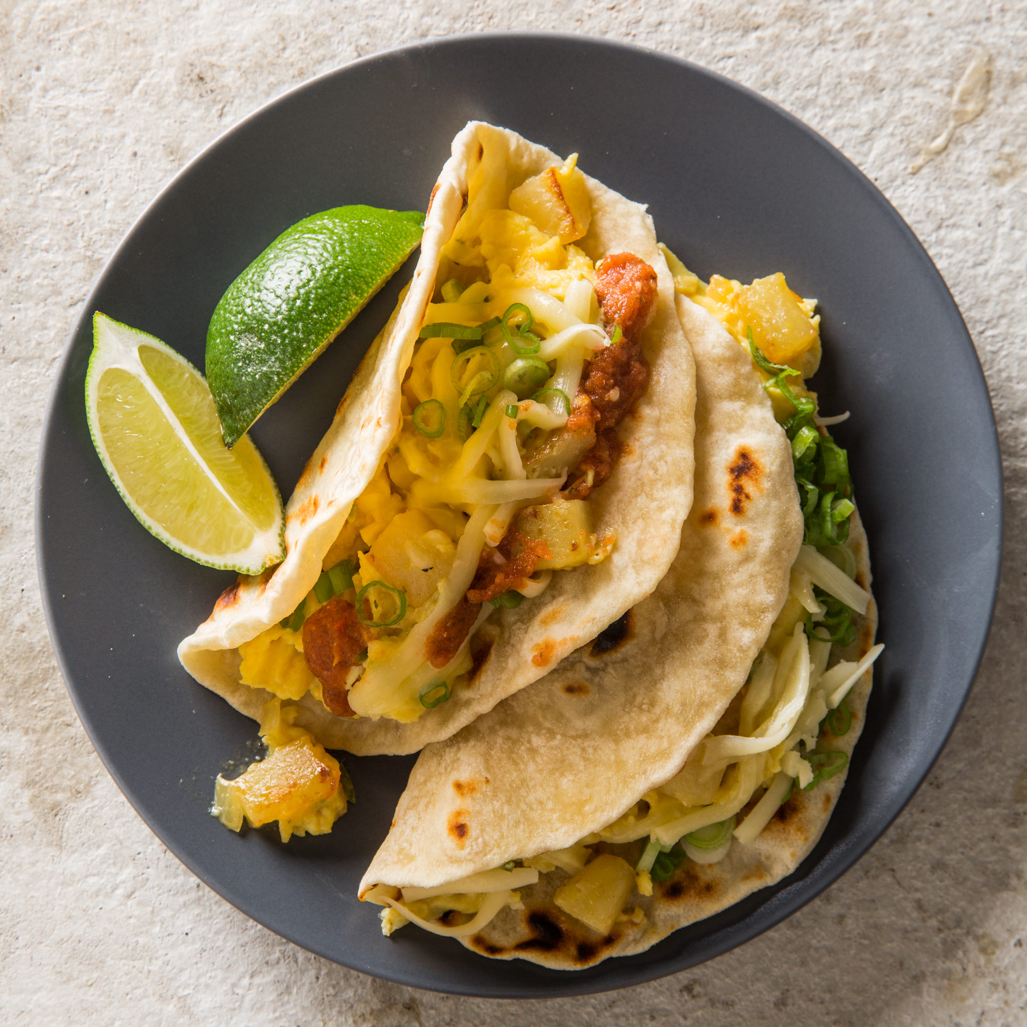 Texas Breakfast Tacos With Potato