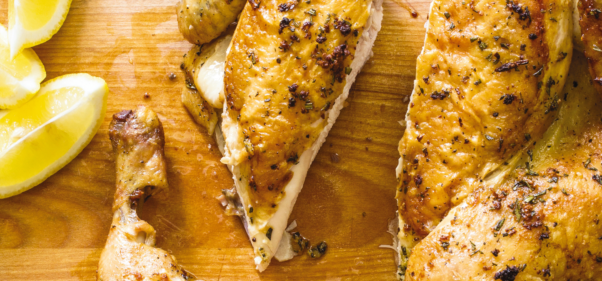 Cast Iron Crisp Roast Butterflied Chicken with Rosemary and Garlic