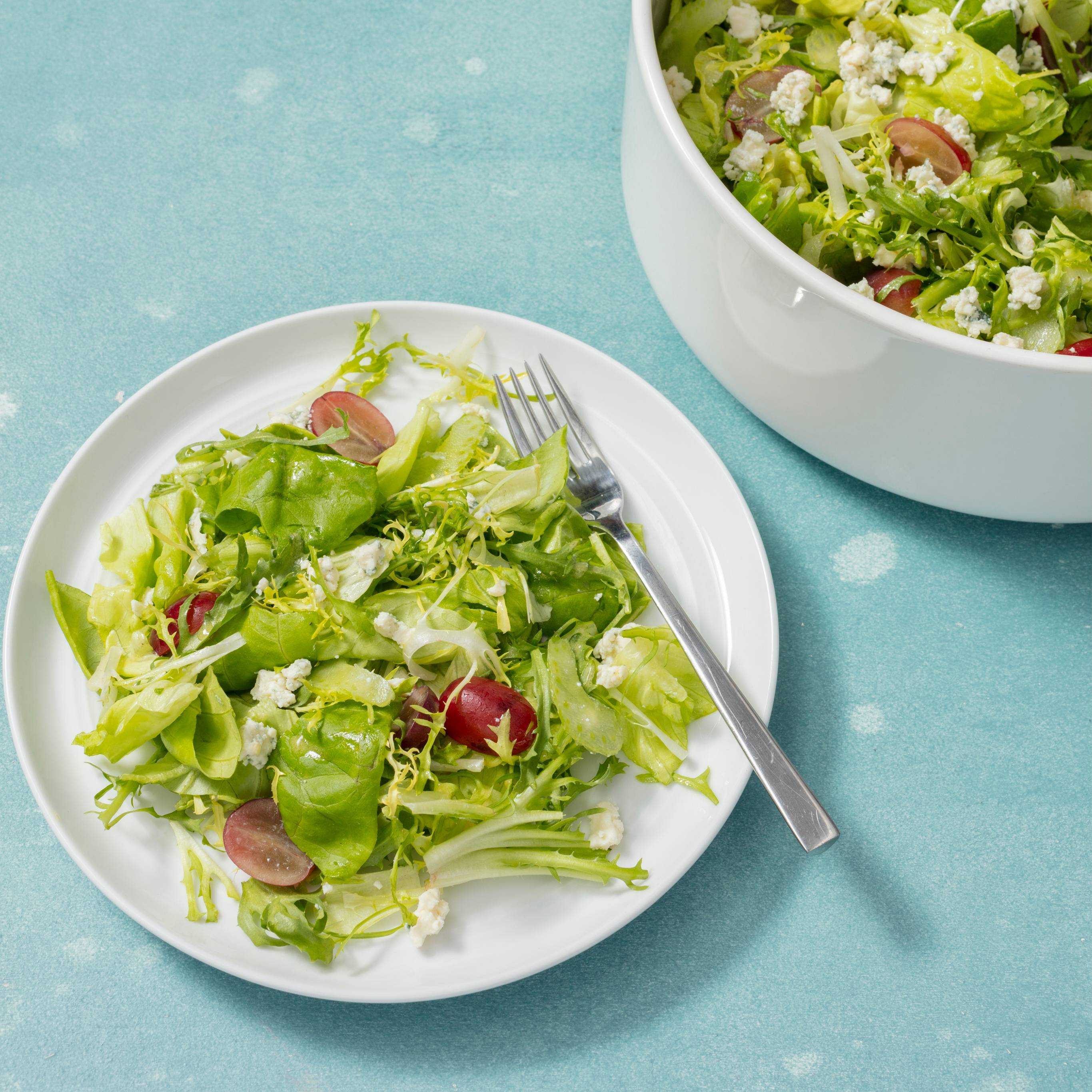 Bibb And Frisee Salad With Grapes And Celery