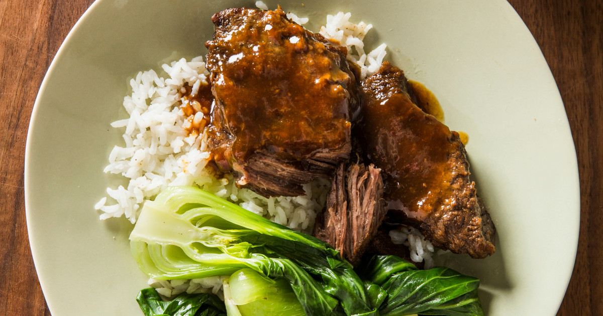Korean Style Beef Short Ribs With Bok Choy One Pan Wonders