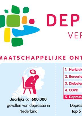 Infographic factsheet Depressie Vereniging