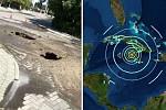 Jamaica earthquake: Ground opens up...