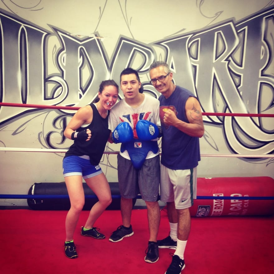 Lanchana Green training at the wild card boxing club