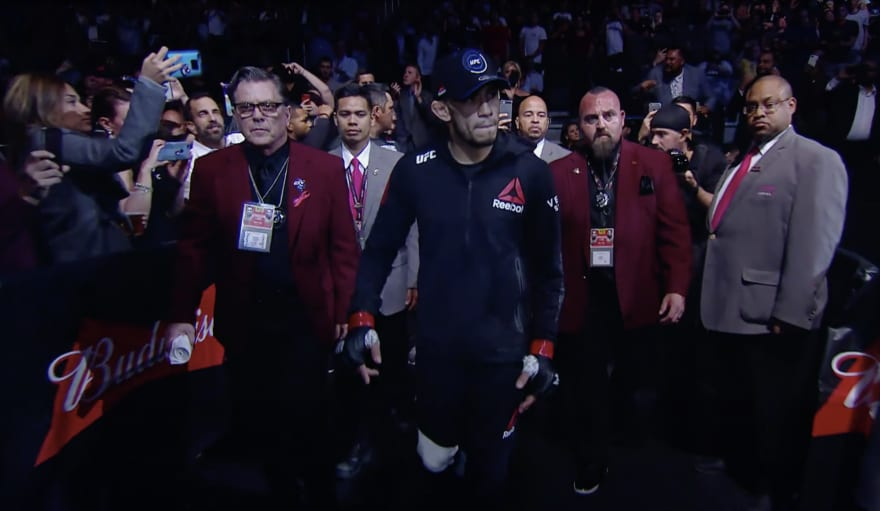 tony ferguson walkout octagon the party has just begun