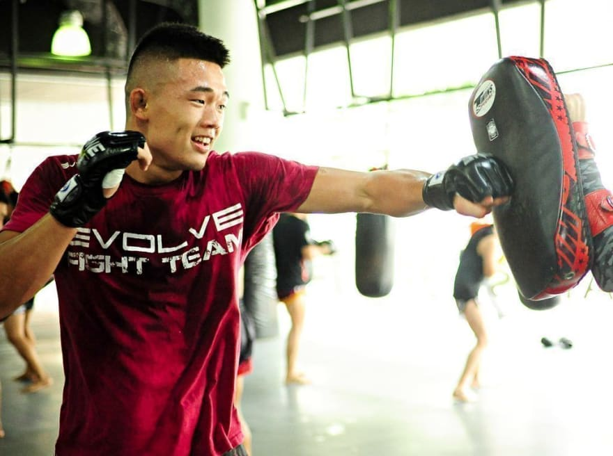 ONE Superstar Christian Lee trains hard at the Evolve MMA Fighters Program.