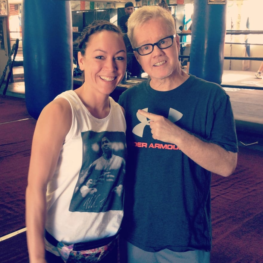 lanchana green training at wild card freddie roach