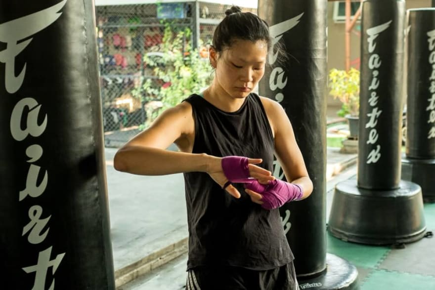 Muay Thai Hand Wrapping