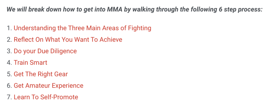 how to get into mma