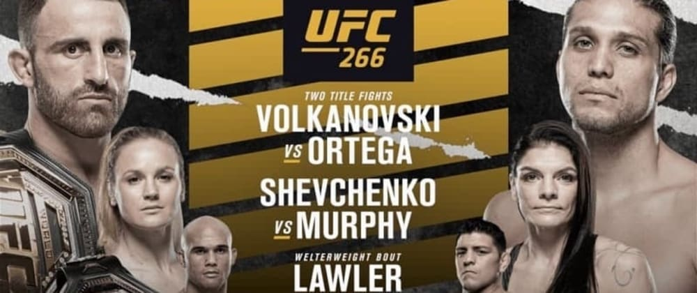 Cover image for Don't forget UFC 266 is coming Saturday 25th September