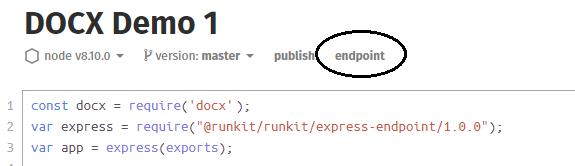 RunKit Instructions