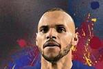 Barcelona unveil new striker Martin...