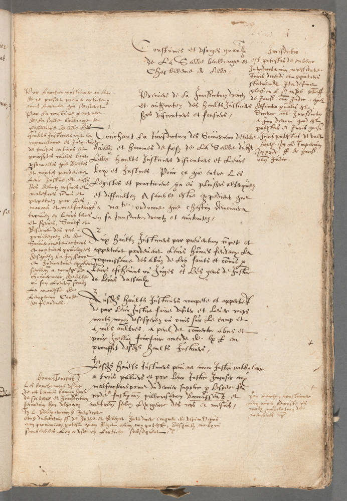 A French coutume from 1579, a written record of early French law