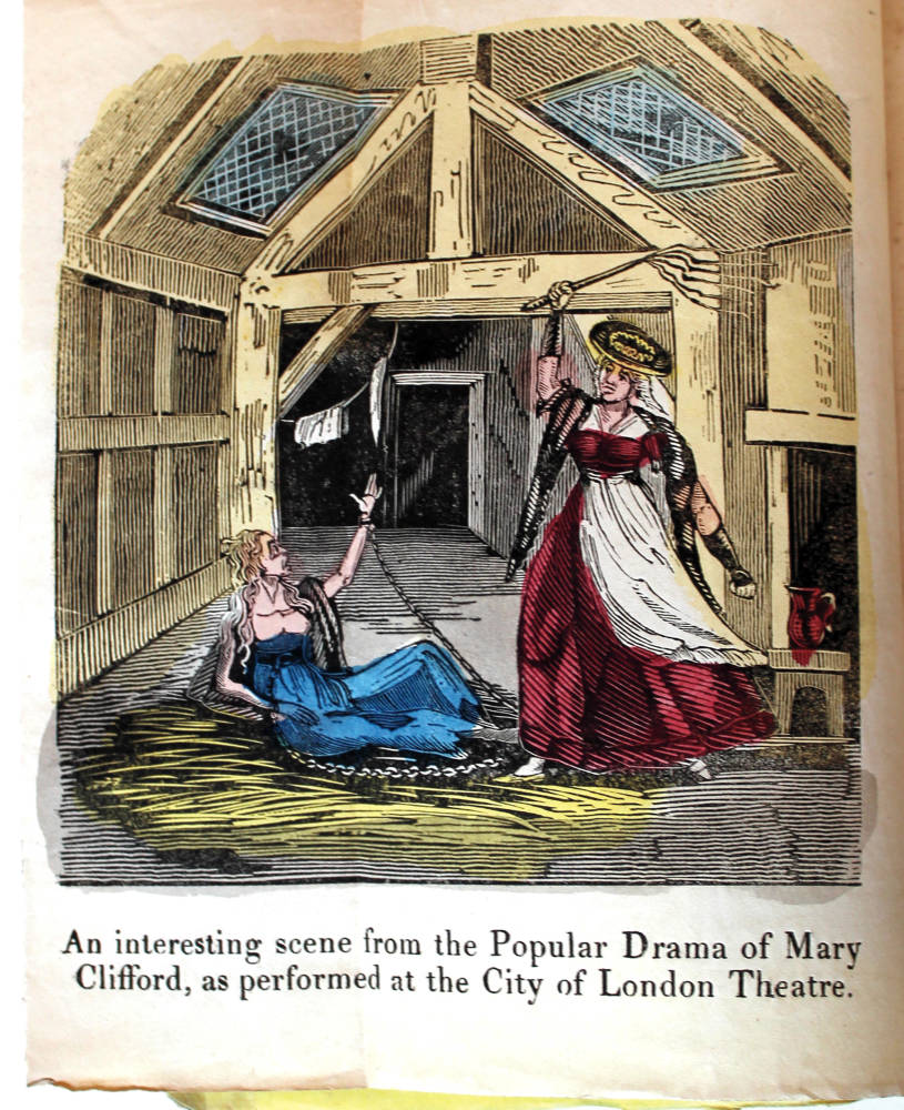 A scene from a pamphlet about an adultery trial of a man who sued his wife for divorce because of her alleged infidelity with a servant.