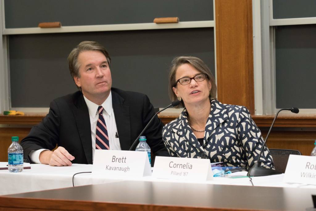 Cornelia Pillard and Brett Kavanaugh at HLS in the World: Federal Judges Federal Courts