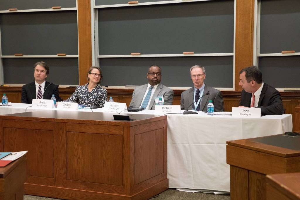 Five panelist at HLS in the World: Federal Judges Federal Courts