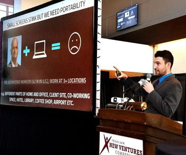 Startups speed pitch at A&M competition