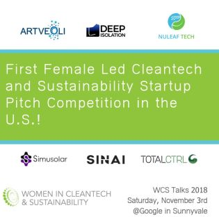 The 5th Annual Women In Cleantech & Sustainability Adds Pitch Competition