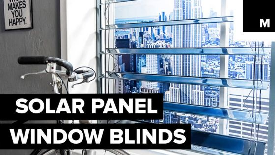 Smart Window Blinds That Double Up As Solar Panels