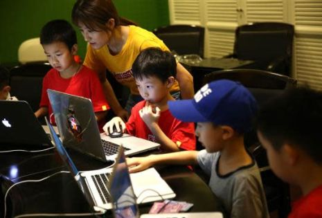 Coding is new 'game' for Chinese kids