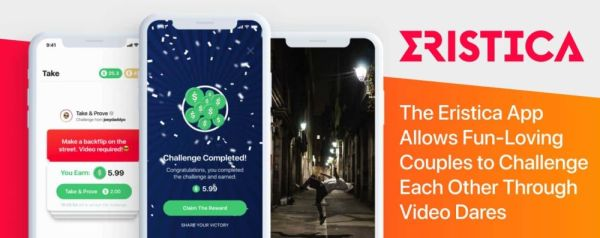 The Eristica App Allows Fun-Loving Couples to Challenge Each Other Through Video Dares