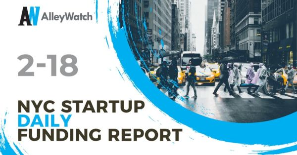 The AlleyWatch Startup Daily Funding Report: 2/18/2020