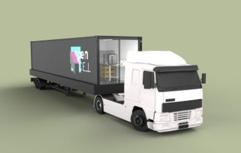 Shipping containers turned into mobile test labs utilise robotics