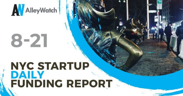 The AlleyWatch Startup Daily Funding Report: 8/21/2020