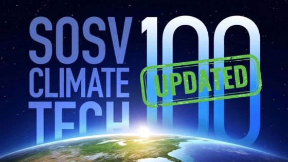 SOSV Climate Tech 100 Startups value grows by 44% in 5 months