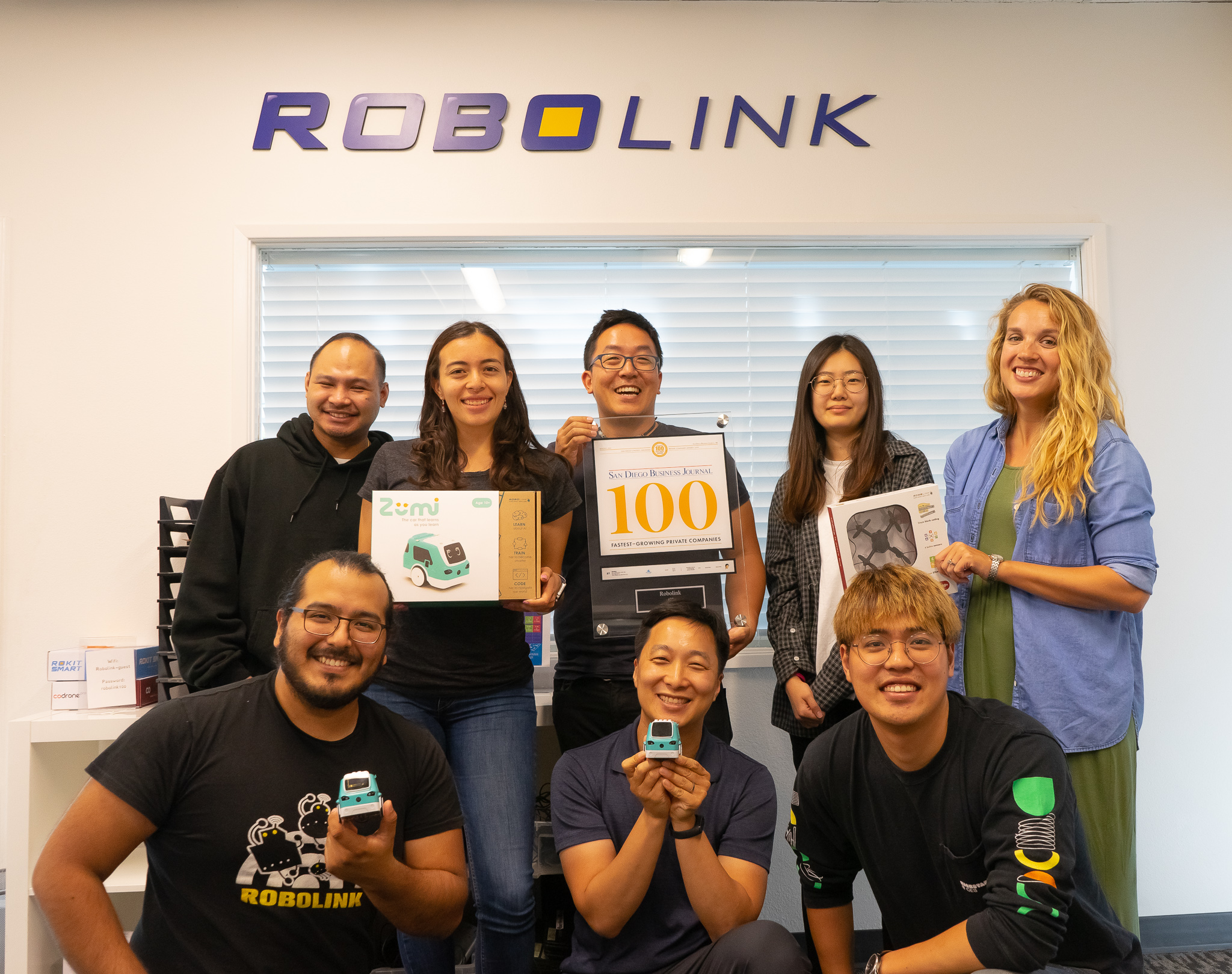 Robolink was selected as 2019 fastest growing company in San Diego