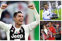 Ronaldo became the first player to...