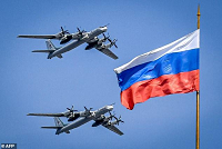 Many Russian bombers and warplanes...
