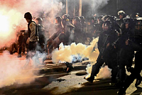 Indonesia uses tear gas to disperse...