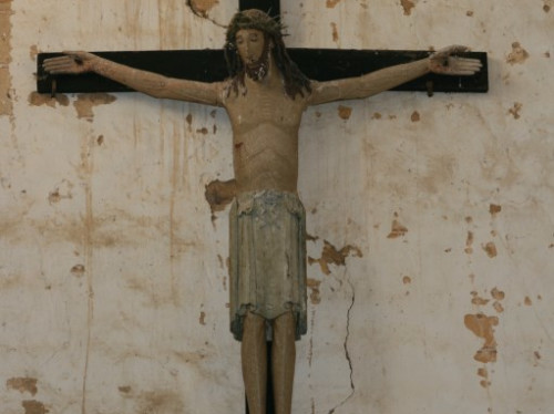 CHRIST ROMAN DU 11ème siècle classé aux MH bois polychromé