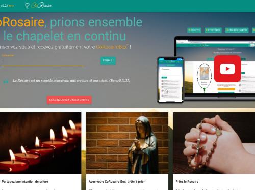 CoRosaire, application PC, Tablette, Smartphone, pour prier ensemble le chapelet en ligne