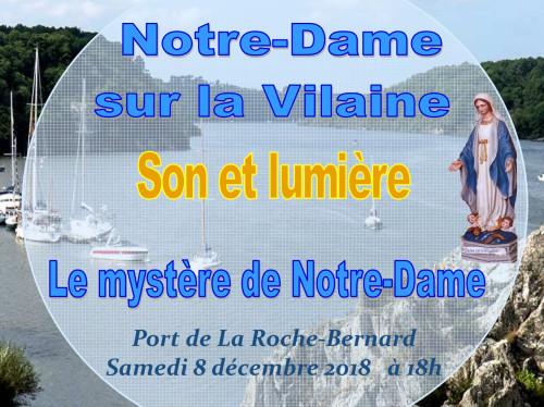 """Spectacle son et lumière """"Le Mystère de Notre-Dame """""""