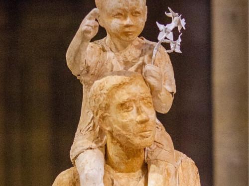 St Joseph en pierre et en résine, à Cotignac et à Paris !