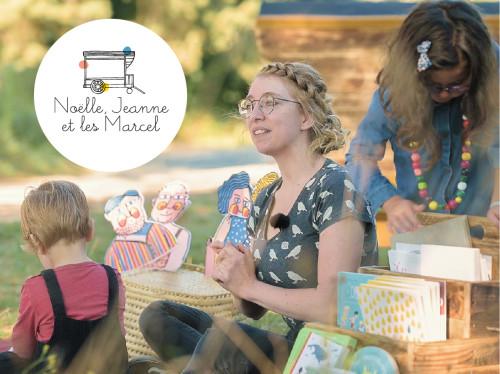 Noëlle, Jeanne et les Marcel : des roulottes pédagogiques pour lire, échanger et créer.