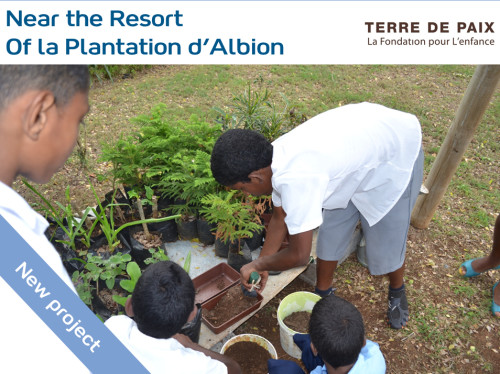 Provide youths a back-to-nature stay at the Albion educational garden in Mauritius