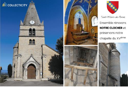 Rénovation du clocher de l'église de Saint-Hilaire