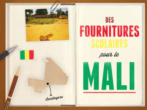 Des fournitures scolaires pour le Mali