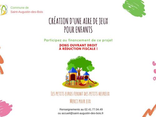 Une aire de jeux pour Saint-Augustin-des-Bois
