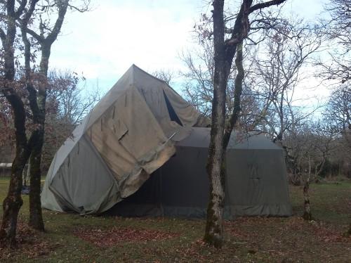 Tempête de février à Rocamadour - rebâtir le camp des jeunes du Sanctuaire
