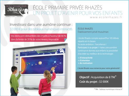 Tableaux Numériques Ecole Rhazès