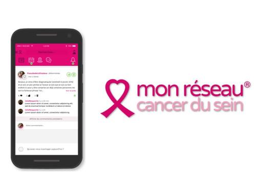 """Appli """"Mon Réseau Cancer du Sein"""""""