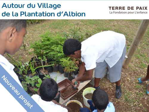 Offrir aux jeunes un retour à la nature dans le Jardin d'éveil d'Albion à l'Ile Maurice